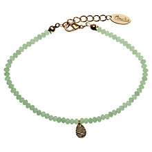 Buy Orelia Tiny Metallic Teardrop Beaded Bracelet Online at johnlewis.com