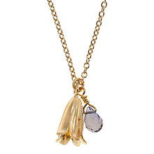 Buy Alex Monroe 22ct Gold Plated Iolite Baby Bluebell Pendant Necklace Online at johnlewis.com