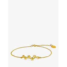 Buy Alex Monroe 22ct Gold Plated Forget Me Not Drift Bracelet Online at johnlewis.com