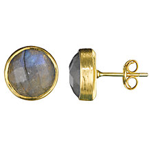 Buy Pomegranate 18ct Gold Vermeil Cupcake Stud Earrings, Labradorite Online at johnlewis.com