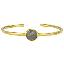 Buy Pomegranate 18ct Gold Vermeil Open Bangle, Labradorite Online at johnlewis.com
