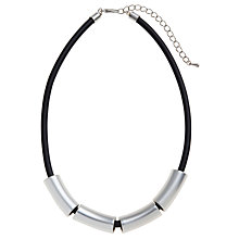 Buy John Lewis 4 Bar Rubber Necklace, Silver Online at johnlewis.com