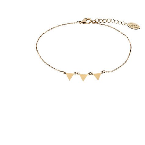 Buy Orelia Simple Triple Triangle Devotion Chain Bracelet, Gold Online at johnlewis.com