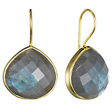 Buy Pomegranate 18ct Gold Vermeil Teardrop Earrings, Labradorite Online at johnlewis.com