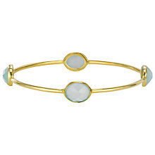 Buy Pomegranate 18ct Gold Vermeil 4 Stone Bangle, Aqua Chalcedony Online at johnlewis.com