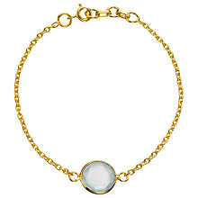 Buy Pomegranate 18ct Gold Vermeil Frame Set Stone Chain Bracelet Online at johnlewis.com