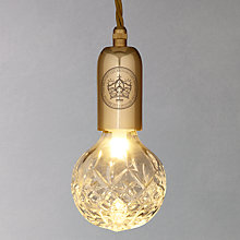 Buy Lee Broom Crystal 24 Carat Gold Bulb Pendant Online at johnlewis.com