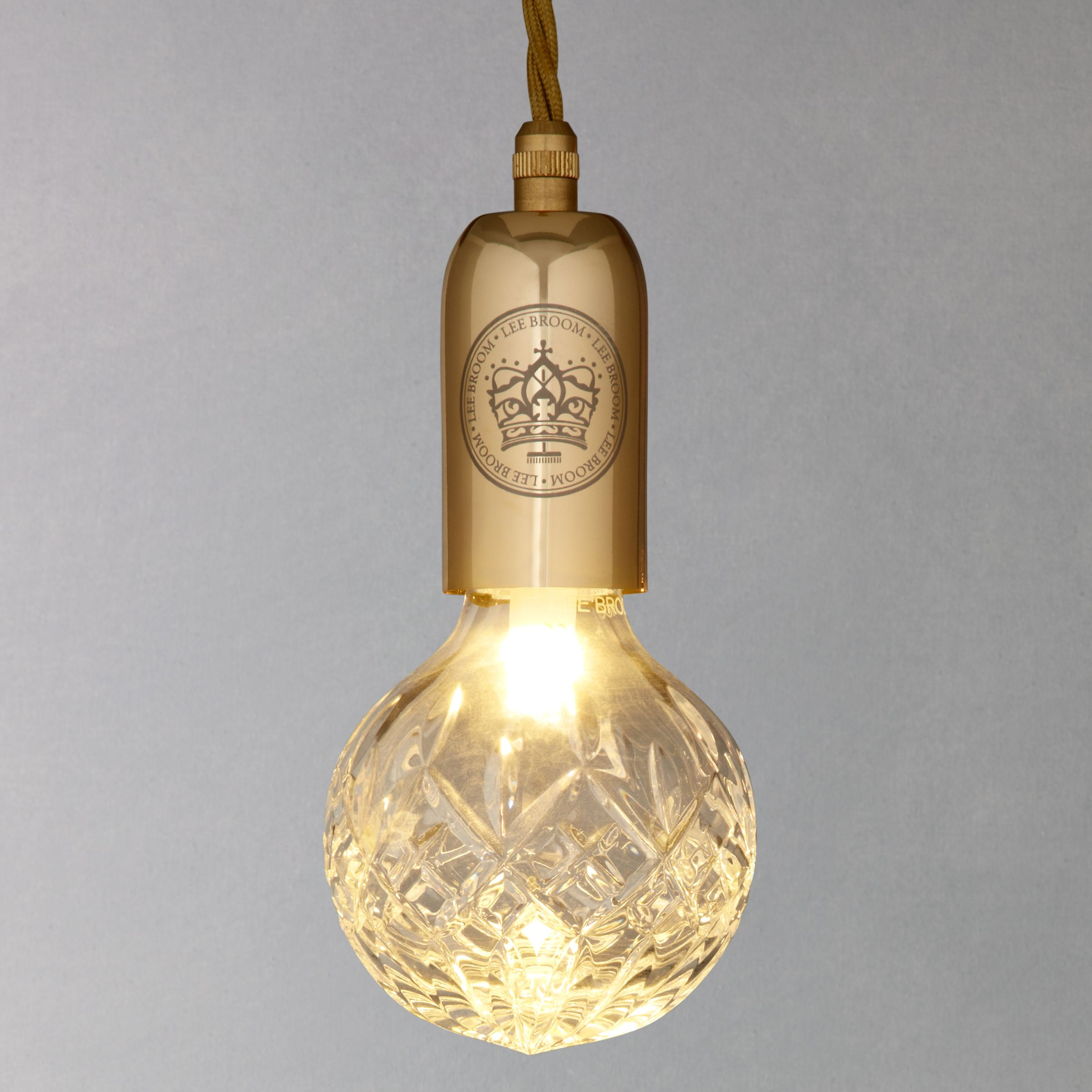Lee Broom Lee Broom Crystal 24 Carat Gold Bulb Pendant