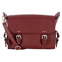 Buy Warehouse Mini Clean Satchel, Berry Online at johnlewis.com