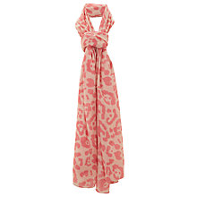Buy Havren Ocelot Print Scarf, Bubblegum Online at johnlewis.com
