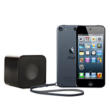 Buy Apple iPod touch 5th generation, 64GB, Black & Slate with Juice Sound Square Portable Speaker, Black Online at johnlewis.com