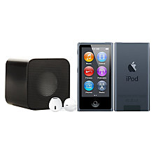 Buy Apple iPod nano,16GB, Slate with Juice Sound Square Portable Speaker, Black Online at johnlewis.com