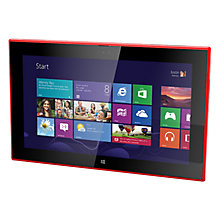 "Buy Nokia Lumia 2520 Tablet, Qualcomm Snapdragon, Windows RT 8.1, 10.1"", 32GB, Wi-Fi & 4G LTE, Red Online at johnlewis.com"