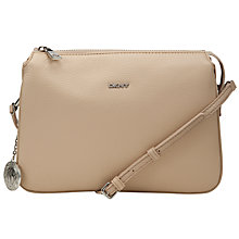 Buy DKNY Tribeca Leather Triple Across Body Handbag, Sand Online at johnlewis.com