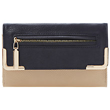 Buy Dune Kooper Zip Front Colour Block Purse, Black/Tan Online at johnlewis.com