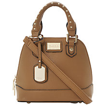 Buy Dune Dami Mini Structured Shoulder Handbag, Brown Online at johnlewis.com