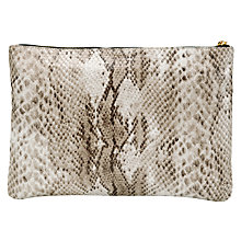 Buy COLLECTION by John Lewis Snake Pouch Clutch Handbag Online at johnlewis.com
