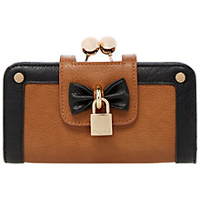Buy Dune Klipbow Bow and Padlock Trim Purse, Tan Online at johnlewis.com