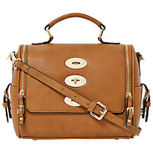 Buy Dune Triple Lock Handbag, Tan Online at johnlewis.com