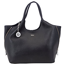 Buy DKNY Tribeca East/West Leather Tote Handbag, Black Online at johnlewis.com