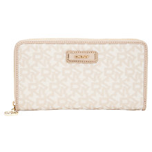Buy DKNY Heritage Large Zip Around Purse, Sand Online at johnlewis.com