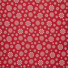 Buy John Lewis Lace Snowflake Fabric, Red Online at johnlewis.com