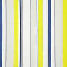 Buy little home at John Lewis Finlay Stripe Fabric, Yellow / Navy Online at johnlewis.com