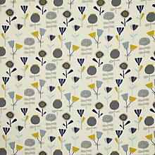 Buy John Lewis Chloe's Flowers Fabric, Ochre Online at johnlewis.com