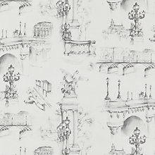 Buy John Lewis Seine Toile Fabric, Grey Online at johnlewis.com