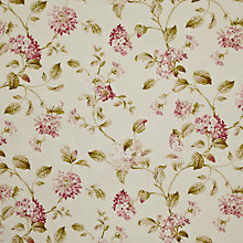 Buy John Lewis Hydrangea Fabric, Pink Online at johnlewis.com
