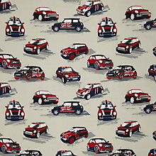 Buy John Lewis Car Rally Fabric, Red Online at johnlewis.com