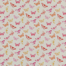 Buy John Lewis Flutter Butterfly Fabric, Pink Online at johnlewis.com