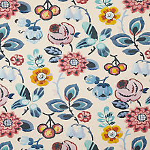 Buy John Lewis Nelka Fabric, Blue Online at johnlewis.com