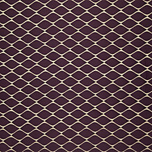 Buy John Lewis Lattice Fabric, Aubergine Online at johnlewis.com