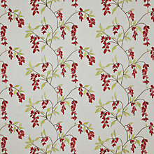 Buy John Lewis Wistaria Embroidery Fabric, Red Online at johnlewis.com