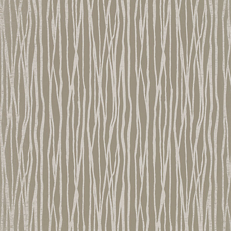 Buy John Lewis Undulated Stripe Furnishing Fabric Natural