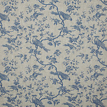 Buy John Lewis Botanica Bird Curtain, Blue Online at johnlewis.com