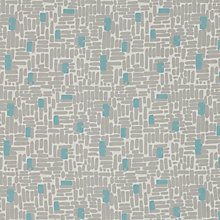 Buy John Lewis Bricks Curtain, Teal Online at johnlewis.com