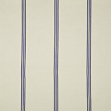 Buy John Lewis Nubalin Stripe Curtain, Navy Online at johnlewis.com