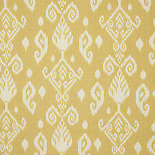 Buy John Lewis Leon Ikat Curtain, Yellow Online at johnlewis.com