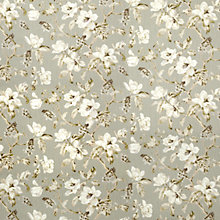 Buy John Lewis Aster Floral Curtain, Grey Online at johnlewis.com