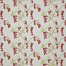 Buy John Lewis Wistaria Embroidery Curtain, Red Online at johnlewis.com