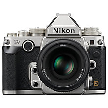 "Buy Nikon DF Digital SLR Camera with 50mm Lens, 16.2MP, 3"" LCD Screen with 16GB + 8GB Memory Card Online at johnlewis.com"