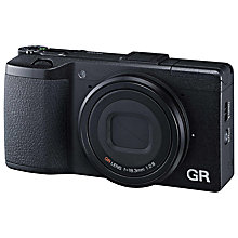 "Buy Ricoh GR Expert Digital Camera, HD 1080p, 16MP, 3"" LCD Screen with 16GB + 8GB Memory Card Online at johnlewis.com"