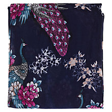 Buy Warehouse Ornamental Peacock Scarf, Navy Online at johnlewis.com