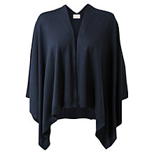 Buy East Merino Poncho, Navy Online at johnlewis.com