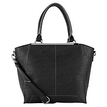 Buy Warehouse Hardware Trimmed Tote Handbag, Black Online at johnlewis.com