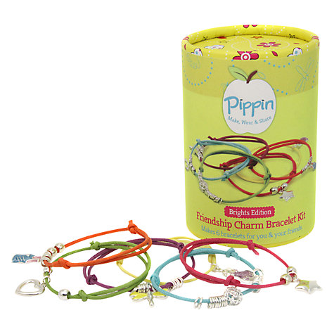 Buy Pippin Make Your Own Friendship Charm Bracelets Kit, Brights Online at johnlewis.com