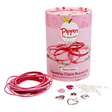 Buy Pippin Make Your Own Friendship Charm Bracelet Kit, Hearts Online at johnlewis.com
