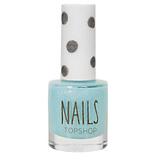Buy TOPSHOP Nails - Pastel Glitter, Light Blue Online at johnlewis.com